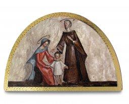 Copertina di 'Tavola Sacra Famiglia stampa su legno ad arco - 18 x 12 cm'