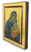 Immagine di 'Icona Madonna della Tenerezza, produzione greca su legno - 25 x 20 cm'