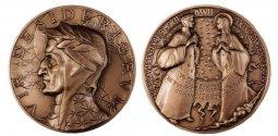 Copertina di 'VIR DESIDERIORUM. La medaglia del Centro Dantesco di Ravenna per il VII centenario della morte di Dante Alighieri - diametro 70 mm'