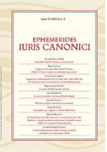 Copertina di 'Ephemerides Iuris Canonici. Anno 55 (2015) n.1'