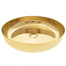 Copertina di 'Patena a forma di ciotola in ottone dorato - diametro 23 cm'