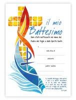 """Pergamena in cartoncino """"Il mio battesimo"""" (10 pezzi) - Dimensioni 18x24 cm"""