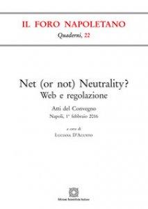 Copertina di 'Net (or not) neutrality?'