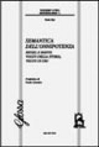 Copertina di 'Semantica dell'onnipotenza. Hegel e Barth: volto della storia, volto di Dio'