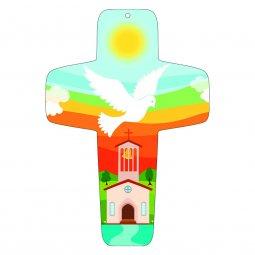 """Copertina di 'Croce """"Colomba dello Spirito Santo"""" - altezza 13 cm'"""