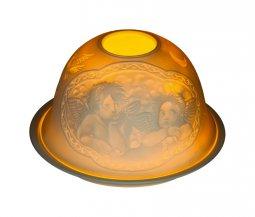 """Copertina di 'Portalumino in porcellana """"Angeli"""" di Raffaello - diametro 12 cm'"""