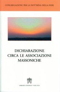 Copertina di 'Dichiarazione circa le associazioni massoniche'