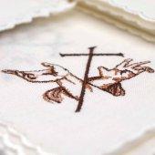 """Servizio da messa 4 pezzi """"croce latina stigmate mani"""""""