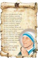 """Tavoletta sagomata """"Vivi la vita"""" - Madre Teresa di Calcutta"""