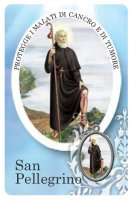 Card San Pellegrino della guarigione in PVC - 5,5 x 8,5 cm - Italiano