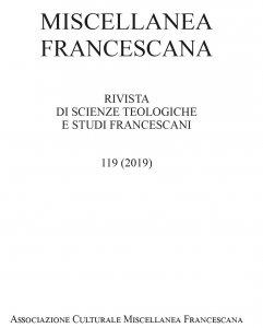 Miscellanea Francescana 2019 - n. III-IV