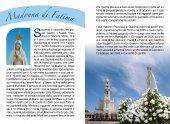 Immagine di 'Libretto Rosario con immagine della Madonna di Fatima e coroncina'