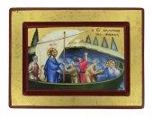 Icona Gesù e Discepoli - tempesta sedata, produzione greca su legno (20 x 15 cm)