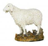 Pecora testa alta su base Linea Martino Landi - presepe da 10 cm