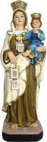 Statua Madonna del Carmine da 12 cm in confezione regalo con immaginetta di  su LibreriadelSanto.it
