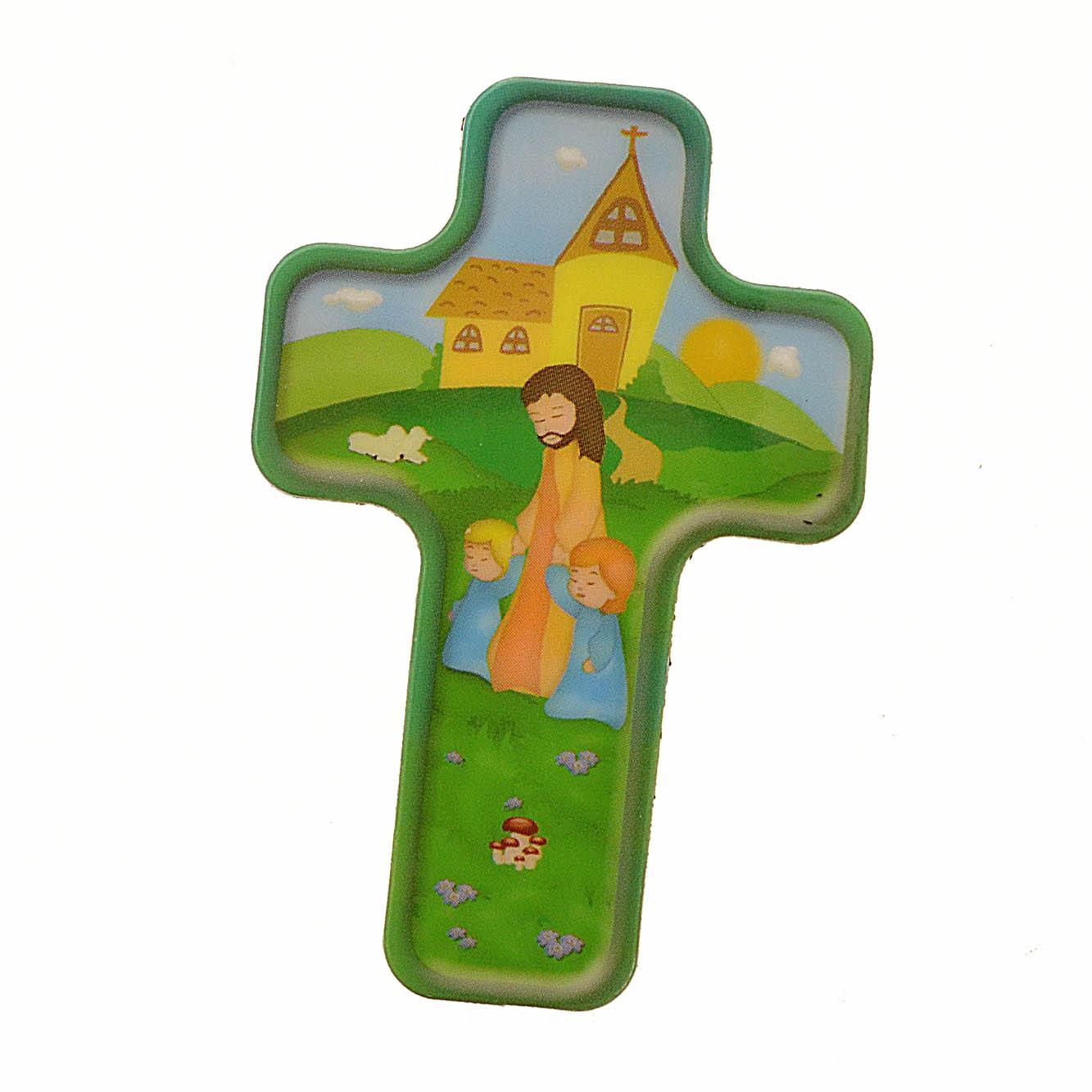 Magnete a forma di croce 39 ges e i bambini 39 4x6 italia for Immagini punto croce per bambini