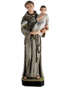 """Copertina di 'Statua in resina colorata """"Sant'Antonio di Padova"""" - altezza 60 cm'"""