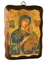 """Quadretto in legno """"Madonna del perpetuo soccorso"""" - dimensioni 15x10 cm"""