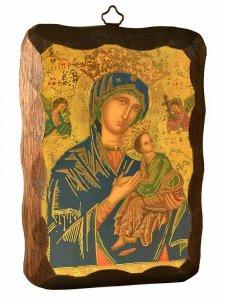 """Copertina di 'Quadretto in legno """"Madonna del perpetuo soccorso"""" - dimensioni 15x10 cm'"""