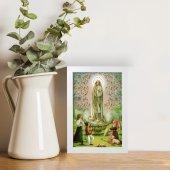 """Immagine di 'Quadretto """"Madonna di Fatima"""" con lamina oro e cornice minimal - dimensioni 15x10 cm'"""