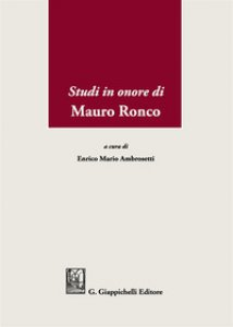 Copertina di 'Studi in onore di Mauro Ronco'