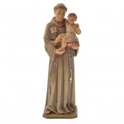 """Copertina di 'Statua sacra in legno colorato """"Sant'Antonio di Padova"""" - altezza 30 cm'"""
