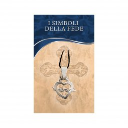 """Copertina di 'Ciondolo in acciaio inox con simbolo """"Cuore di Gesù""""'"""