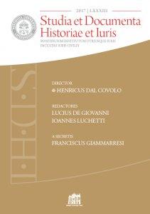 Copertina di 'Studia et Documenta Historiae et Iuris. 2017 - LXXXIII'