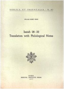 Copertina di 'Isaiah 28-33. Translation with philological notes'