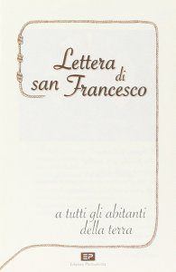 Copertina di 'Lettera di san Francesco a tutti gli abitanti della terra'