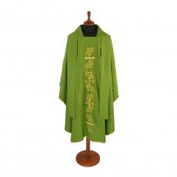 Copertina di 'Casula verde con ricamo lungo a giglio'