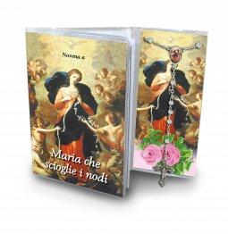 """Copertina di 'Libretto """"Novena a Maria che scioglie i nodi"""" con rosario - italiano'"""