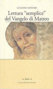 Copertina di 'Lettura «semplice» del Vangelo di Matteo'