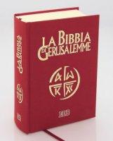 Immagine di 'Custodia in pelle con chiusura a bottone per Bibbia di Gerusalemme - colore marrone'