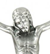 Immagine di 'Corpo di cristo in metallo argentato cm 7'