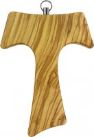 Croce Tau da parete in legno di ulivo (croce di San Francesco d'Assisi) - 11 cm