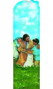 Copertina di 'Segnalibro sagomato Gesù e i bambini - dimensioni 15x4,5 cm'