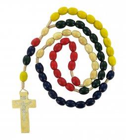 Copertina di 'Rosario missionario legno ovale mm 8'
