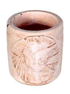 """Copertina di 'Coccetto in resina con candela profumata """"colomba dello Spirito Santo"""" - altezza 5 cm'"""