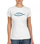 T-shirt Yeshua con pesce e scritta - taglia M - donna