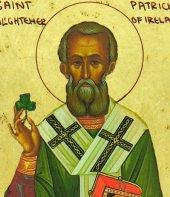 Immagine di 'Icona Saint Patrick / San Patrizio, produzione greca su legno - 10 x 7,5 cm'