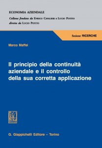 Copertina di 'Il principio della continuità aziendale e il controllo della sua corretta applicazione'