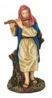 Pastore con piffero Linea Martino Landi - presepe da 12 cm
