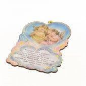 Quadretto sagomato Ave Maria con angioletti