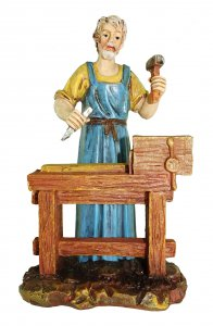 Copertina di 'Statuine presepe: Falegname al banco di lavoro Martino Landi per presepe da cm 12'