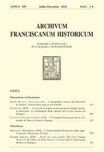 Copertina di 'Frère Hugues Dedieu, OFM (1936-2016). In memoriam (pp. 613-616)'