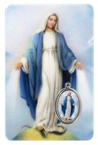 Copertina di 'Card Madonna Miracolosa in PVC - 5,5 x 8,5 cm - francese'
