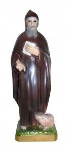 Copertina di 'Statua Sant'Antonio Abate in gesso madreperlato dipinta a mano - 20 cm'