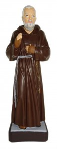 Copertina di 'Statua da esterno di Padre Pio in materiale infrangibile, dipinta a mano, da 60 cm'