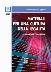 Copertina di 'Materiali per una cultura della legalità 2017'